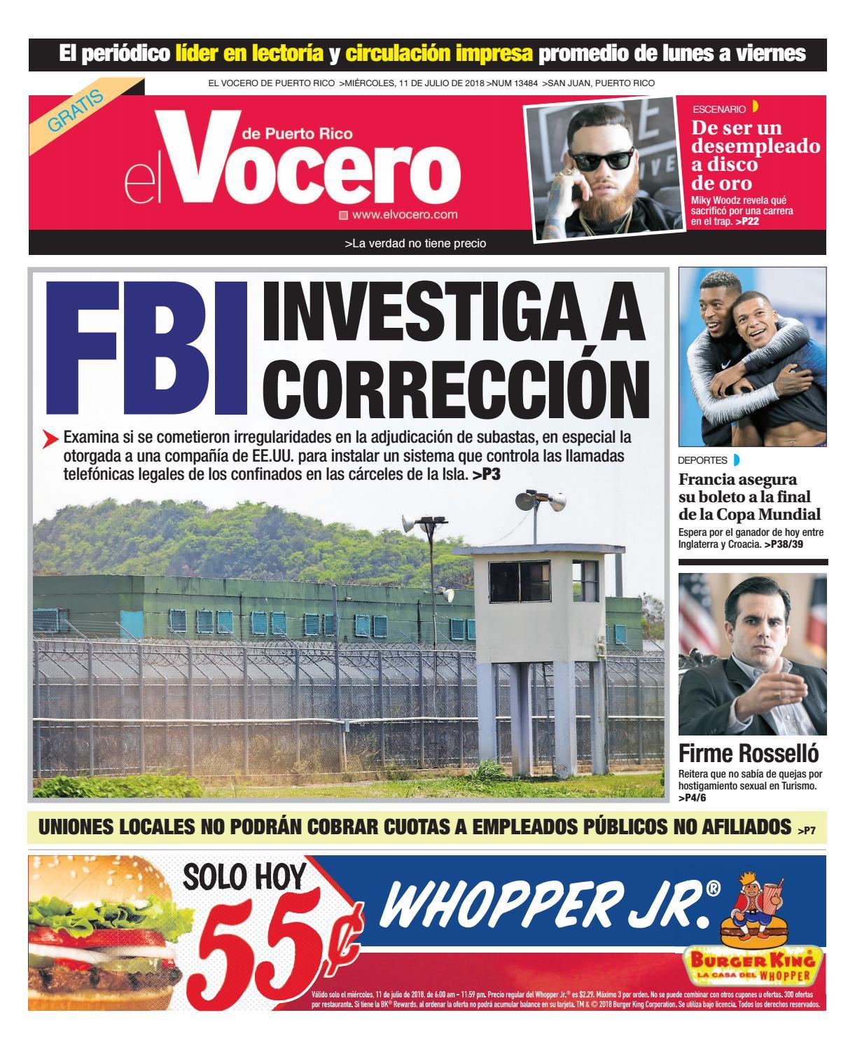 cheaper 52397 5f6c6 Edición del 11 de julio de 2018 by El Vocero de Puerto Rico - issuu
