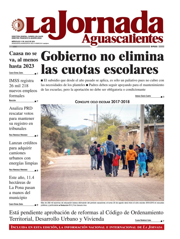 LJA11072018 by La Jornada Aguascalientes - issuu