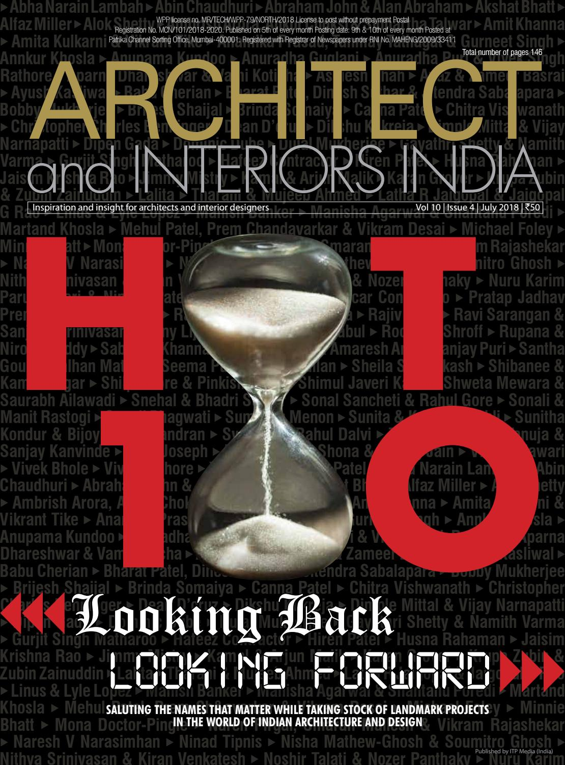 Architect And Interiors India Hot 100 July 2017 Issue By Itp India Issuu