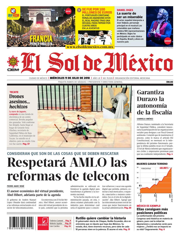 e4390849d2cd7 El Sol de México 11 julio 2018 by El Sol de México - issuu