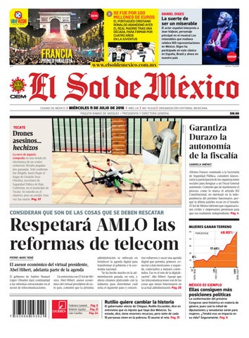 El Sol de México 11 julio 2018 by El Sol de México - issuu f02f497a8855c