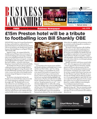 Business Lancashire July 2018 By The Samuel James Group Issuu