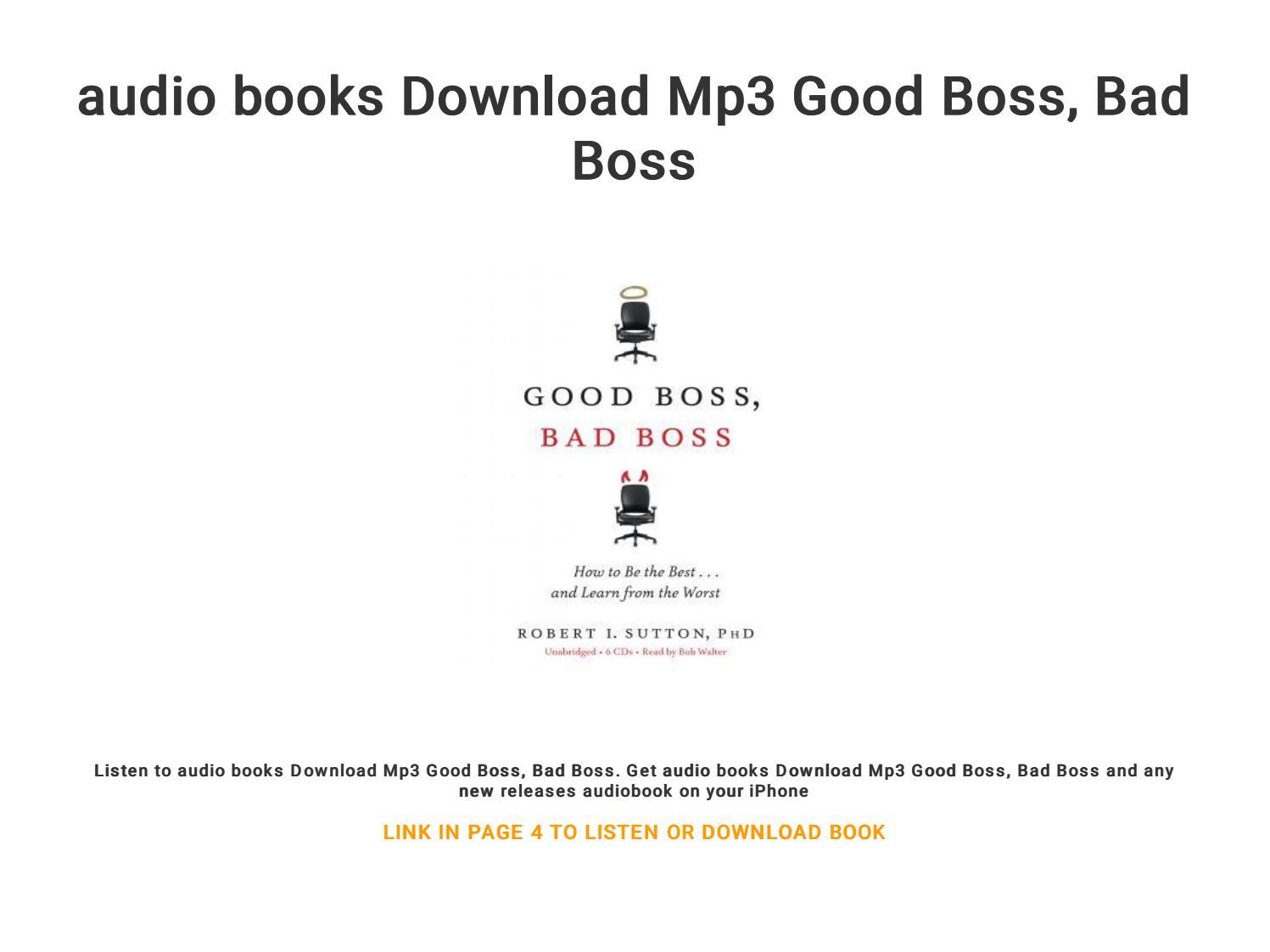 audio books Download Mp3 Good Boss, Bad Boss by winve1949