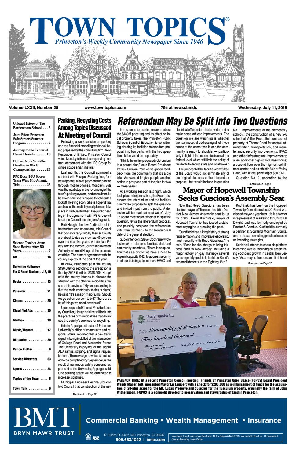Town Topics Newspaper July 11 2018 By Witherspoon Media Group Issuu Electrical Wiring Residential 15th Edition Answer Key