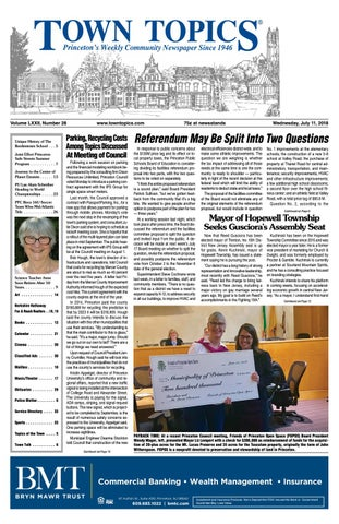Town Topics Newspaper July 11 2018 By Witherspoon Media