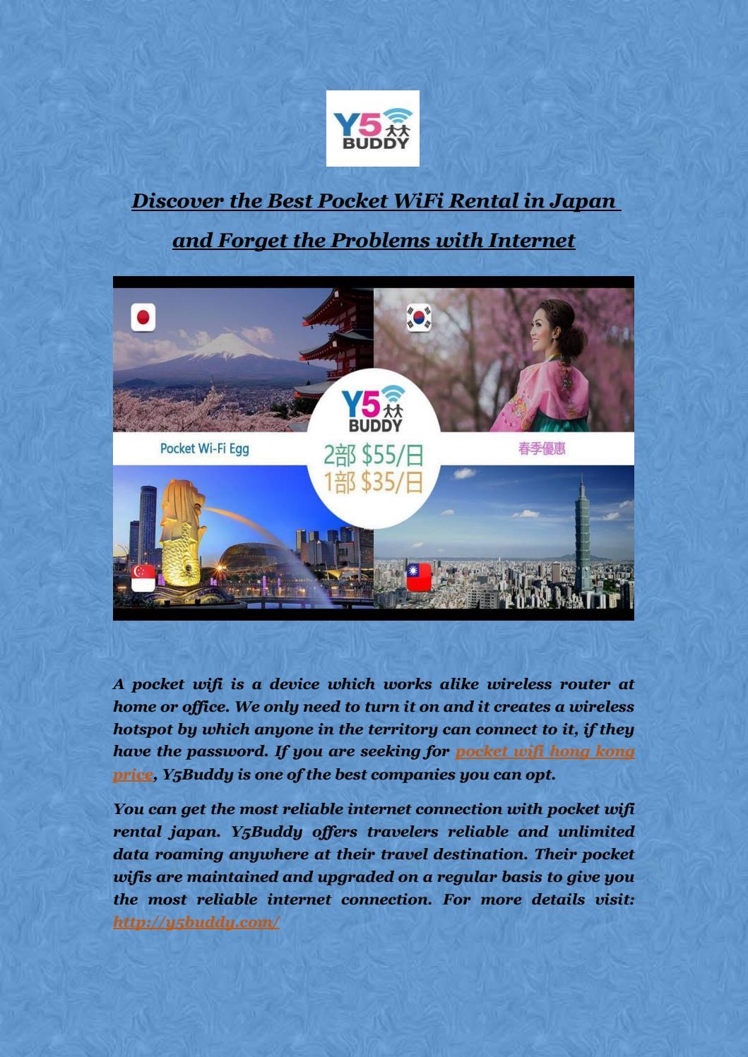 Rent the Best Pocket WiFi Rental in Japan by y5 buddy - issuu