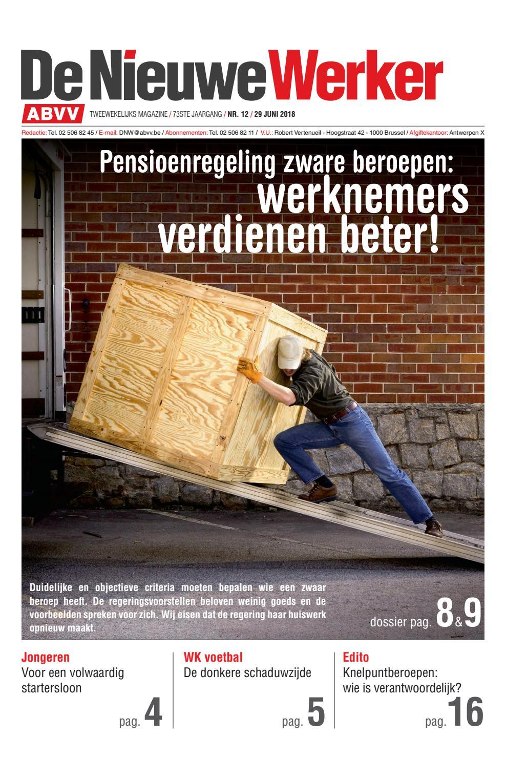 aa750d92c9b De Nieuwe Werker nr. 12 - 2018 by ABVV - issuu