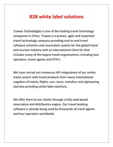 B2b Travel Companies