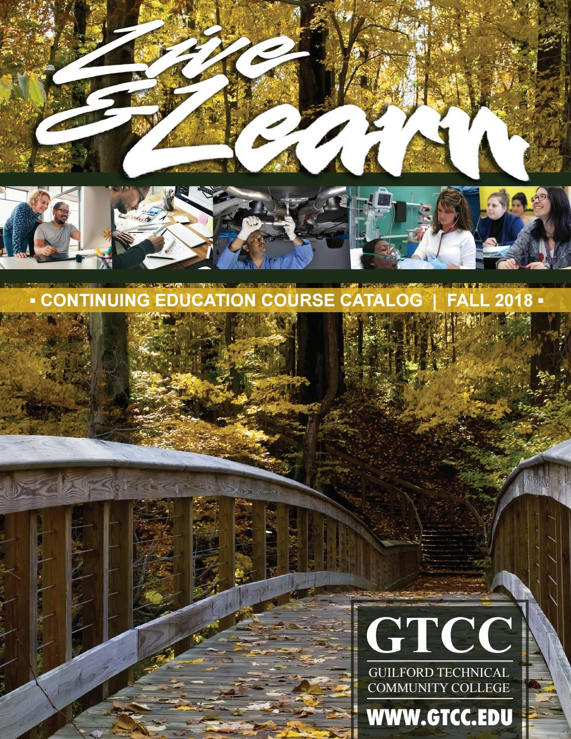 Fall 2018 Live Learn Catalog By Guilford Technical Community College Issuu