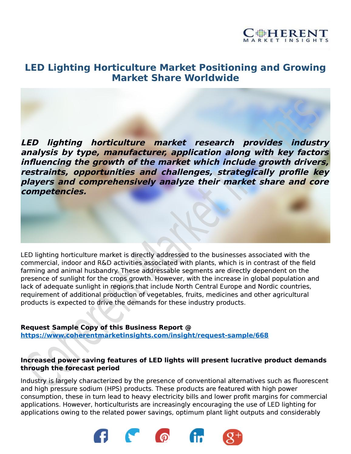 LED Lighting Horticulture Market Positioning and Growing