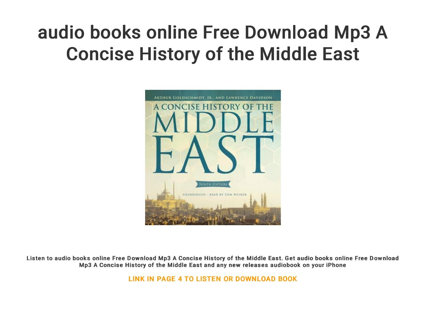 audio books online Free Download Mp3 A Concise History of the Middle East