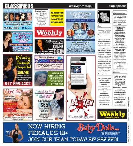 Ft worth fwweekly backpage