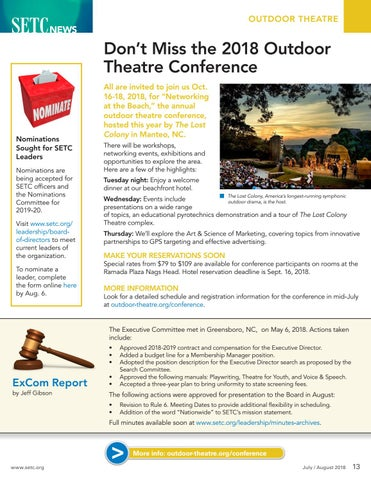 Page 13 of Don't Miss the 2018 Outdoor Theatre Conference