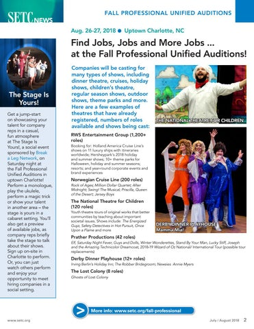 Page 2 of Find Jobs, Jobs and More Jobs ... at the Fall Professional Unified Auditions!