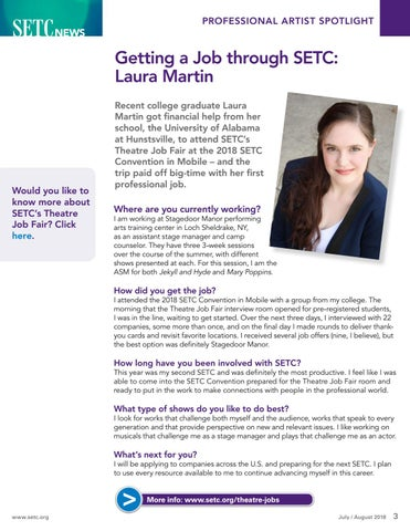 Page 3 of Getting a Job Through SETC: Laura Martin