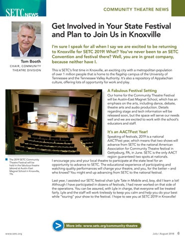 Page 6 of Get Involved in Your State Festival and Plan to Join Us in Knoxville