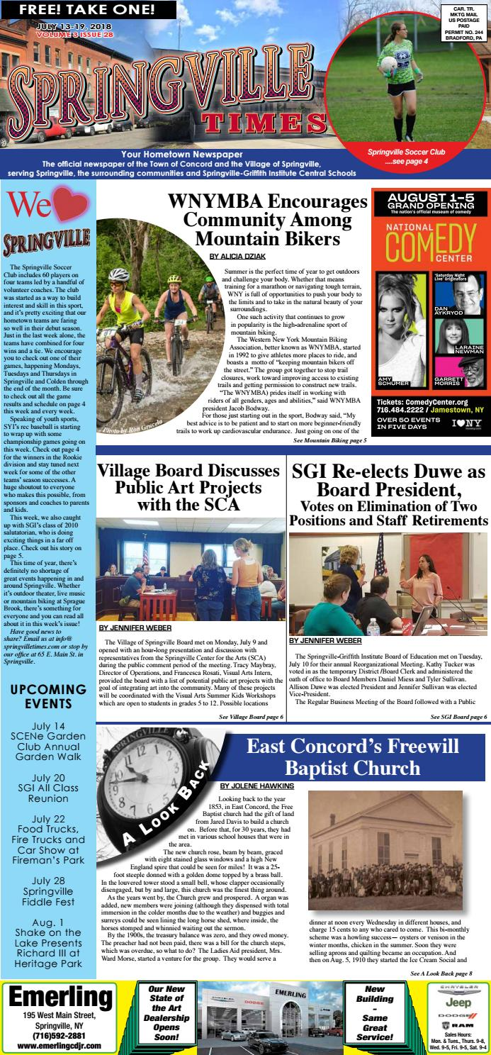 7-13-18 Springville Times by Ellicottville Times - issuu