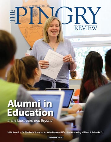The Pingry Review Summer 2018 By The Pingry School Issuu