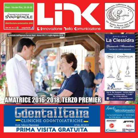 LINK LUGLIO AGOSTO 2018 - Anno 4 N.7 by Agenzia Servizi Rieti - issuu f8767b61a3a