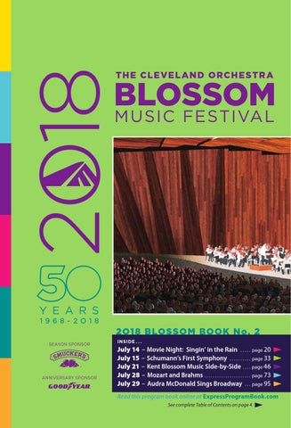 4542dd98beec 2018 Blossom Music Festival book 2 by Live Publishing - issuu
