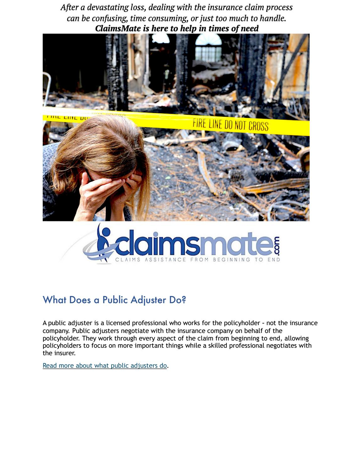 What Does A Public Adjuster Do?
