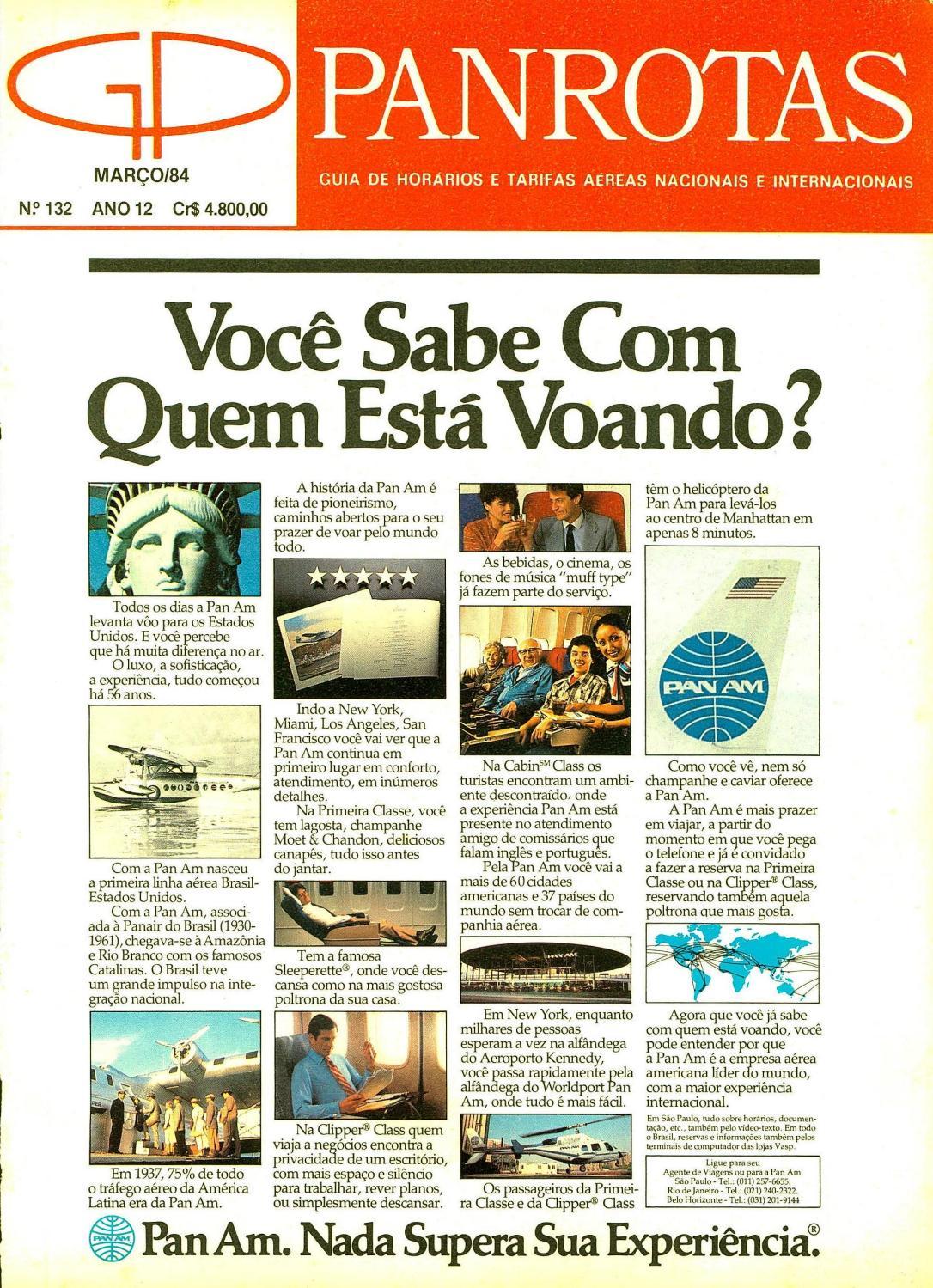 Guia PANROTAS - Edição 132 - Março 1984 by PANROTAS Editora - issuu 44d65187705