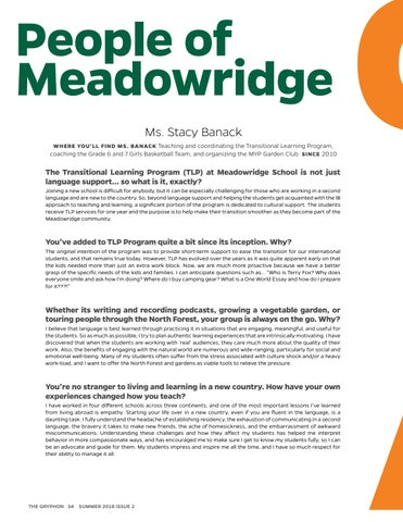 Page 34 of People of Meadowridge: Ms. Stacey Banack