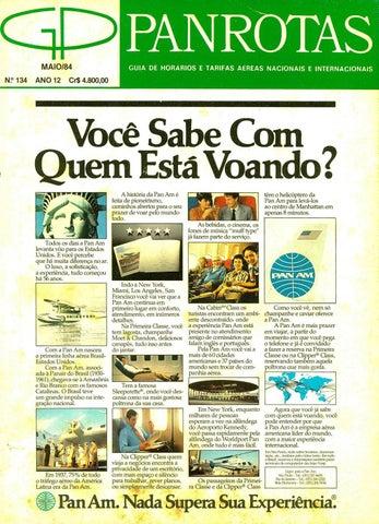 5c785d9aee5 Guia PANROTAS - Edição 134 - Maio 1984 by PANROTAS Editora - issuu