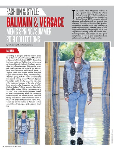 ed78023e Page 14. FASHION & STYLE: BALMAIN & VERSACE MEN'S SPRING / SUMMER 2019  COLLECTIONS