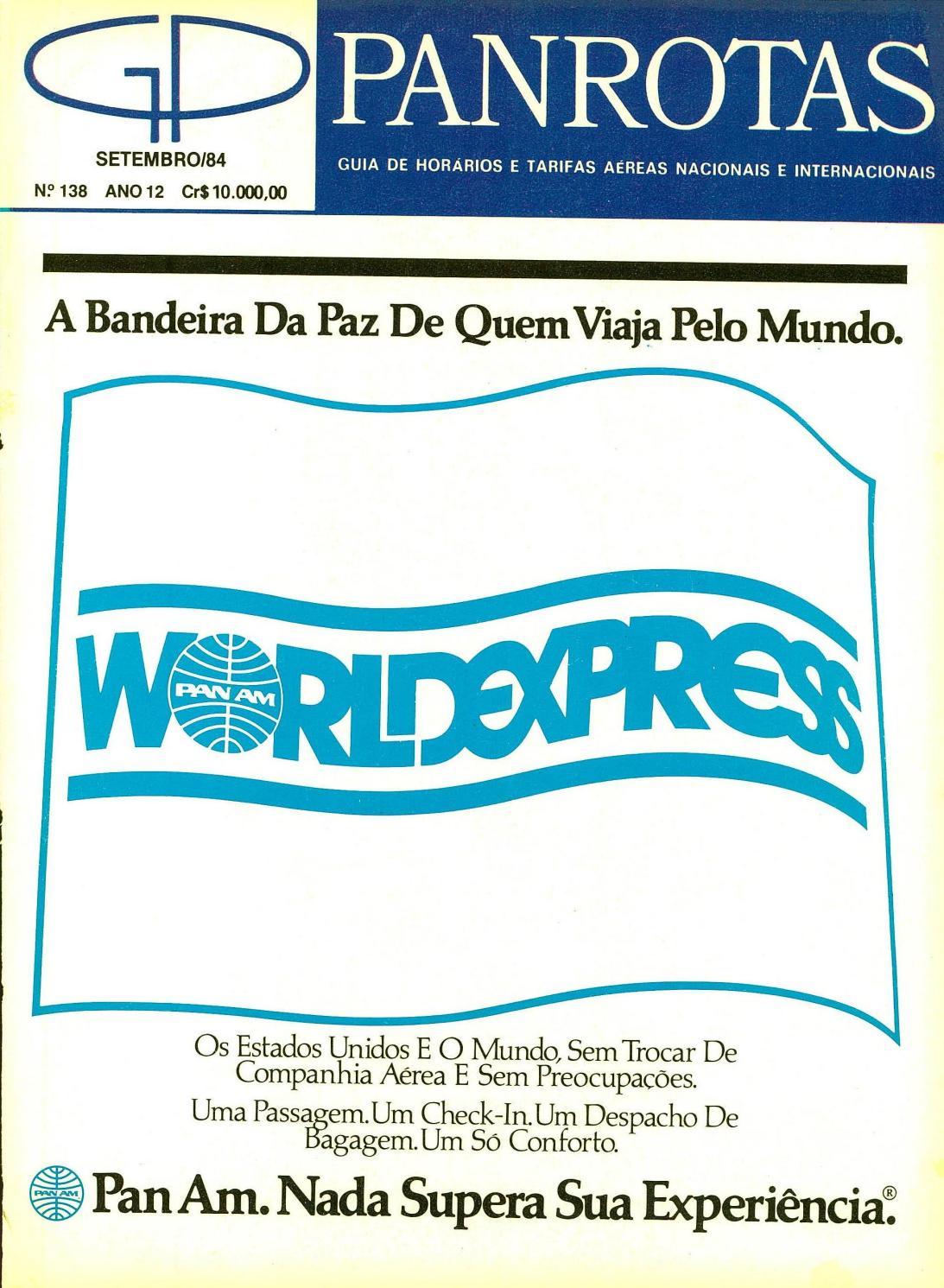 b5d2ec284d Guia PANROTAS - Edição 138 - Setembro 1984 by PANROTAS Editora - issuu