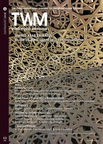 Tissue World Magazine July / August 2018 by Tissue World