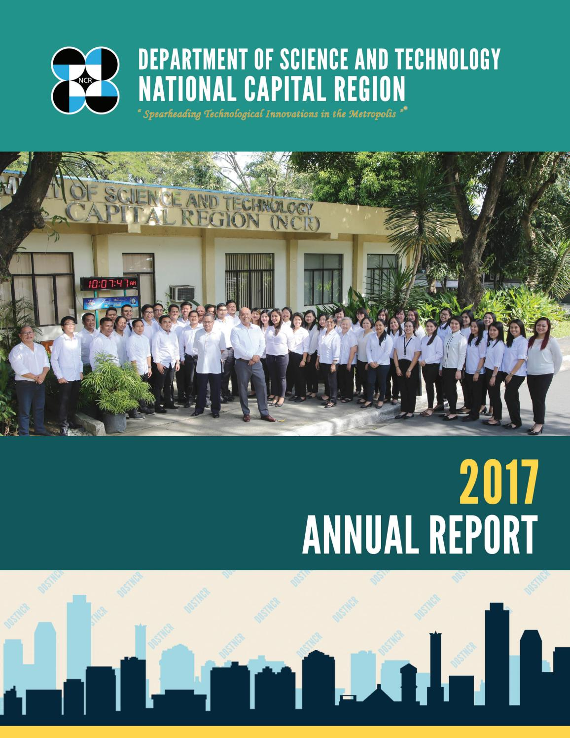 DOST-NCR Annual Report 2017 by dostncr mis - issuu