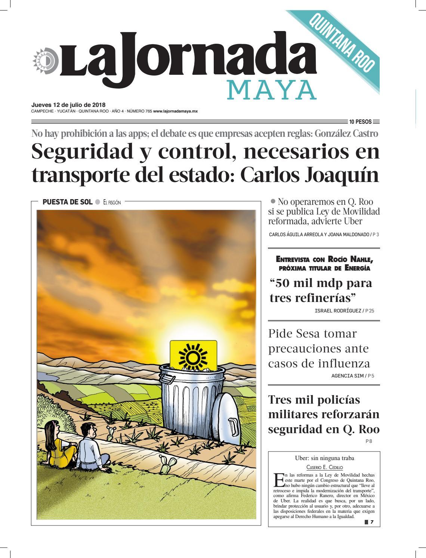 65e790c750c8b La Jornada Maya · Jueves 12 de julio de 2018 by La Jornada Maya - issuu