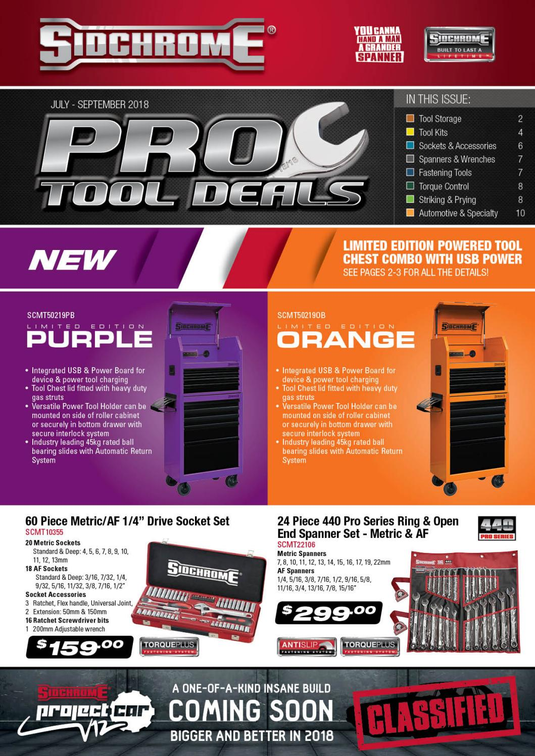 SIDCHROME PRO TOOL DEALS CATALOGUE END SEPTEMBER 18 by