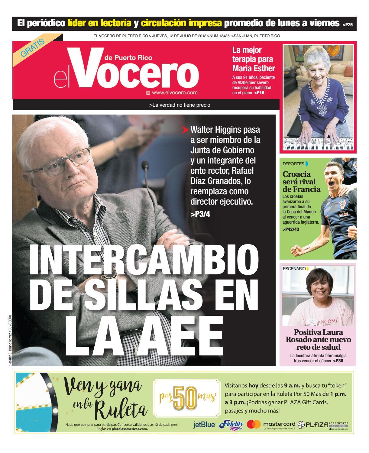 Edición del 12 de julio de 2018 by El Vocero de Puerto Rico - issuu