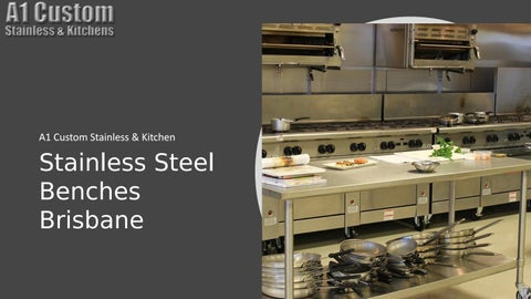 ... Commercial Kitchens A1 Custom Stainless Kitchen Stainless Steel Benches Brisbane ...
