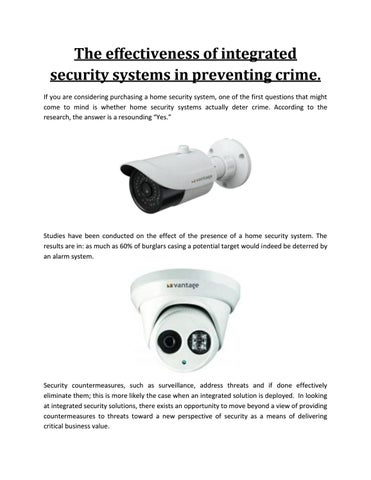 If You Are Considering Purchasing A Home Security System One Of The First Questions That Might Come To Mind Is Whether Systems Actually Deter