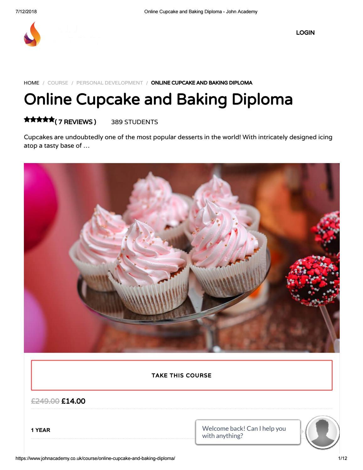 Online Cupcake and Baking Diploma - John Academy by John