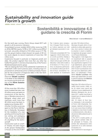 Page 62 of Sustainability and innovation guide Florim's growth