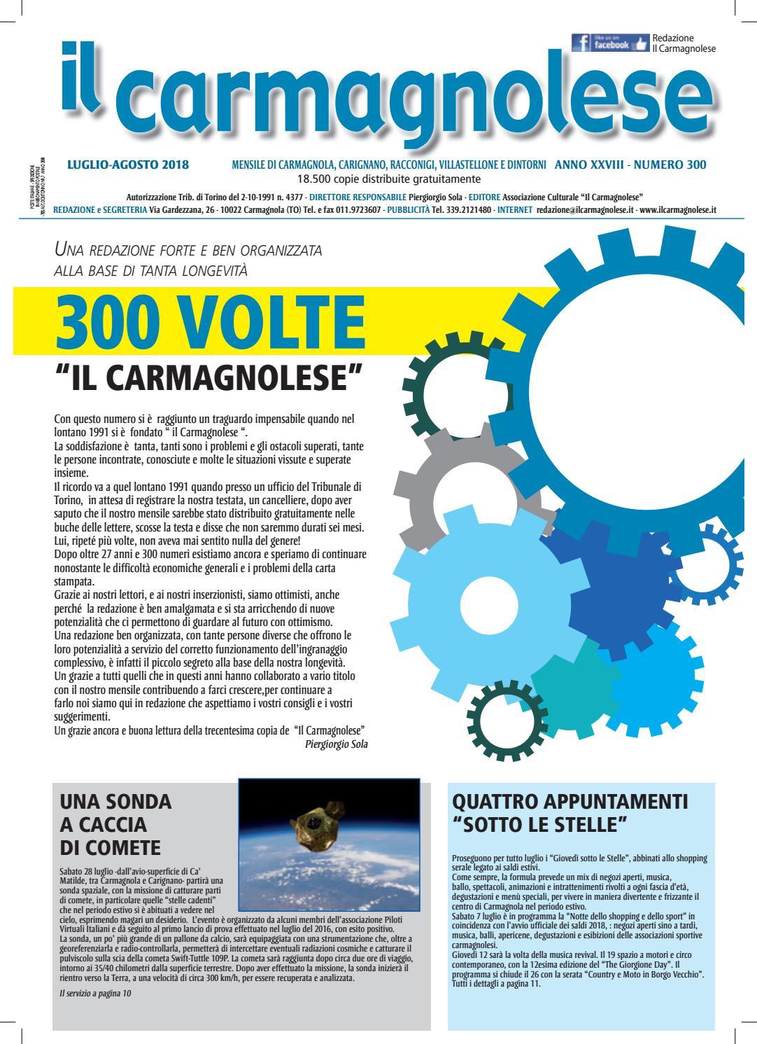 Il Carmagnolese LuglioAgosto 2018 by Redazione Il