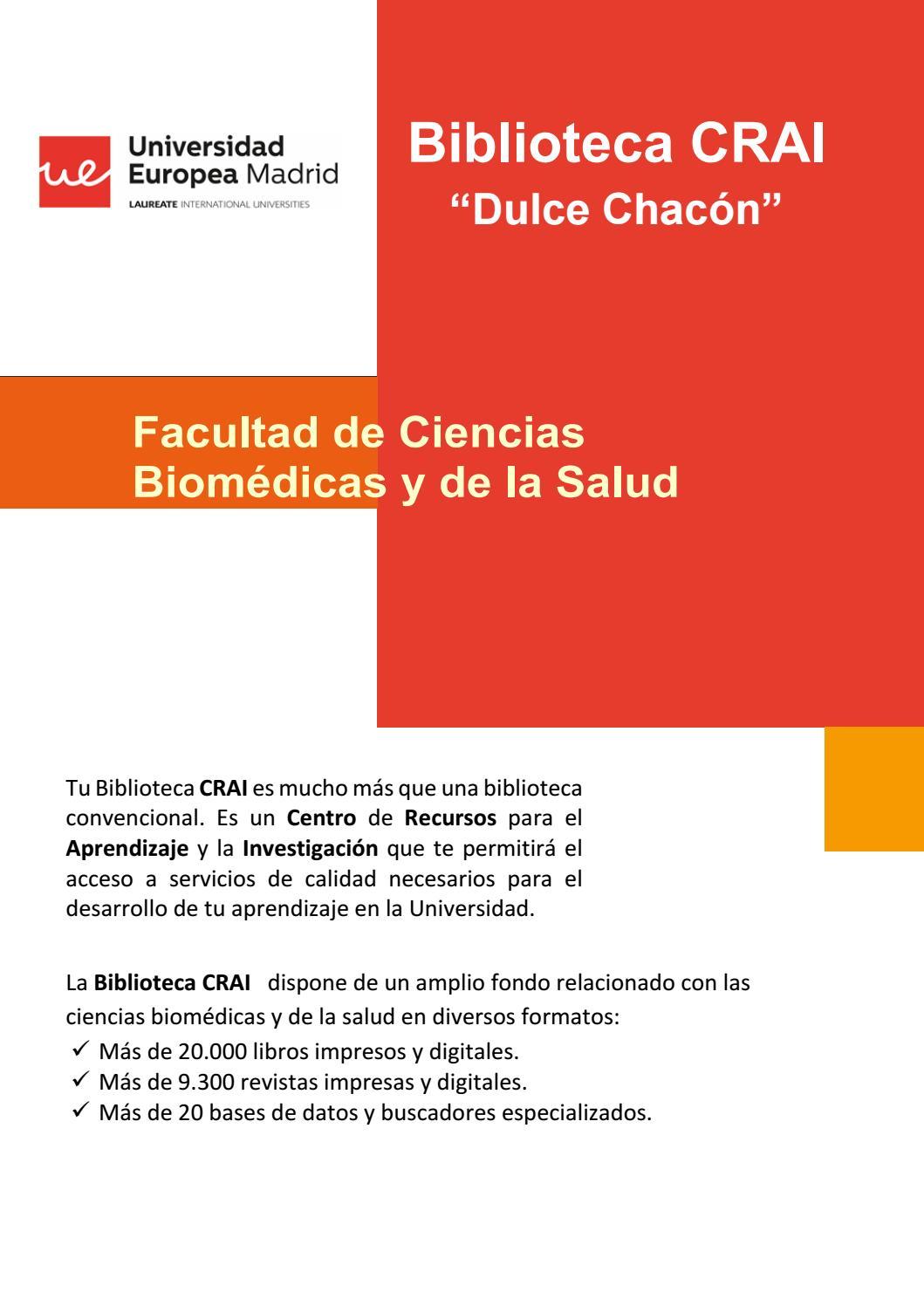 Folleto de la Facultad de Ciencias Biomédicas y de la Salud by ...