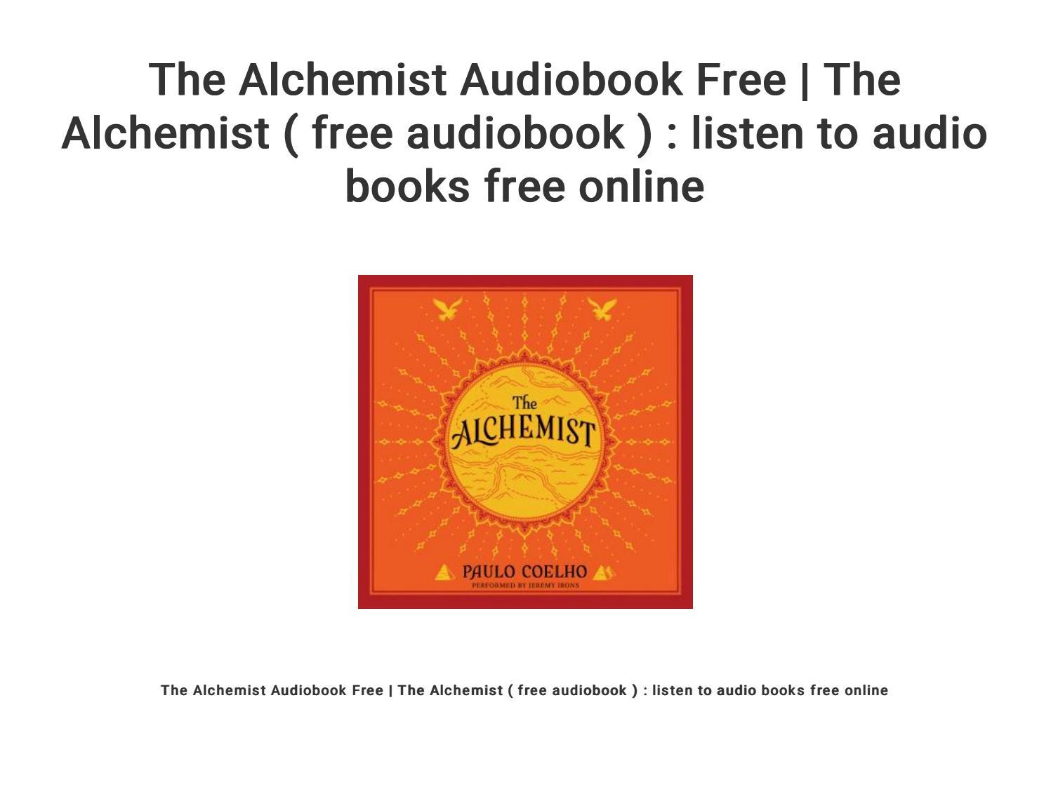 the alchemist audiobook free download