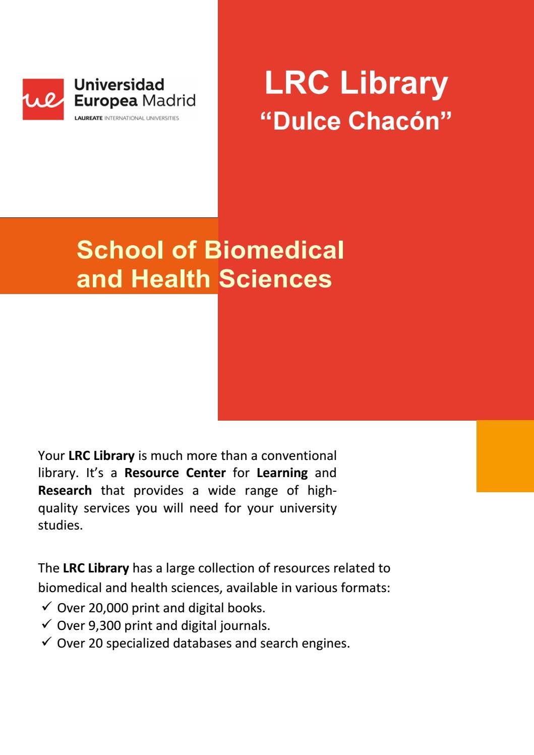 School of Biomedical and Health Sciences brochure by Biblioteca CRAI Dulce  Chacón. Universidad Europea de Madrid - issuu 93b6533899
