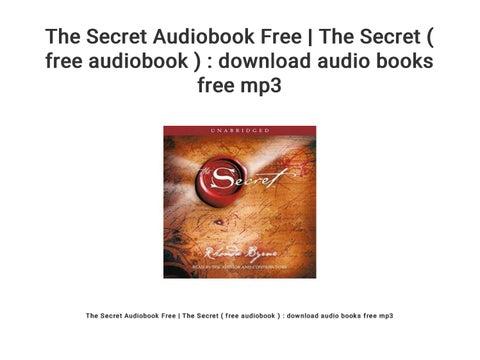 The Secret Audiobook Free   The Secret ( free audiobook ) : download