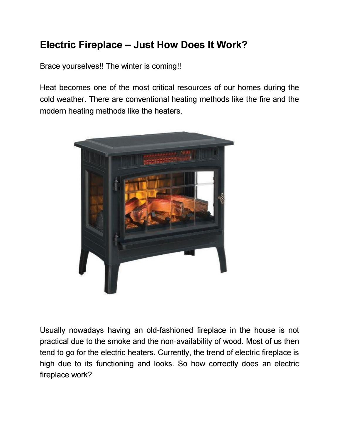 How Does An Electric Fireplace Works By Brett Brown Issuu
