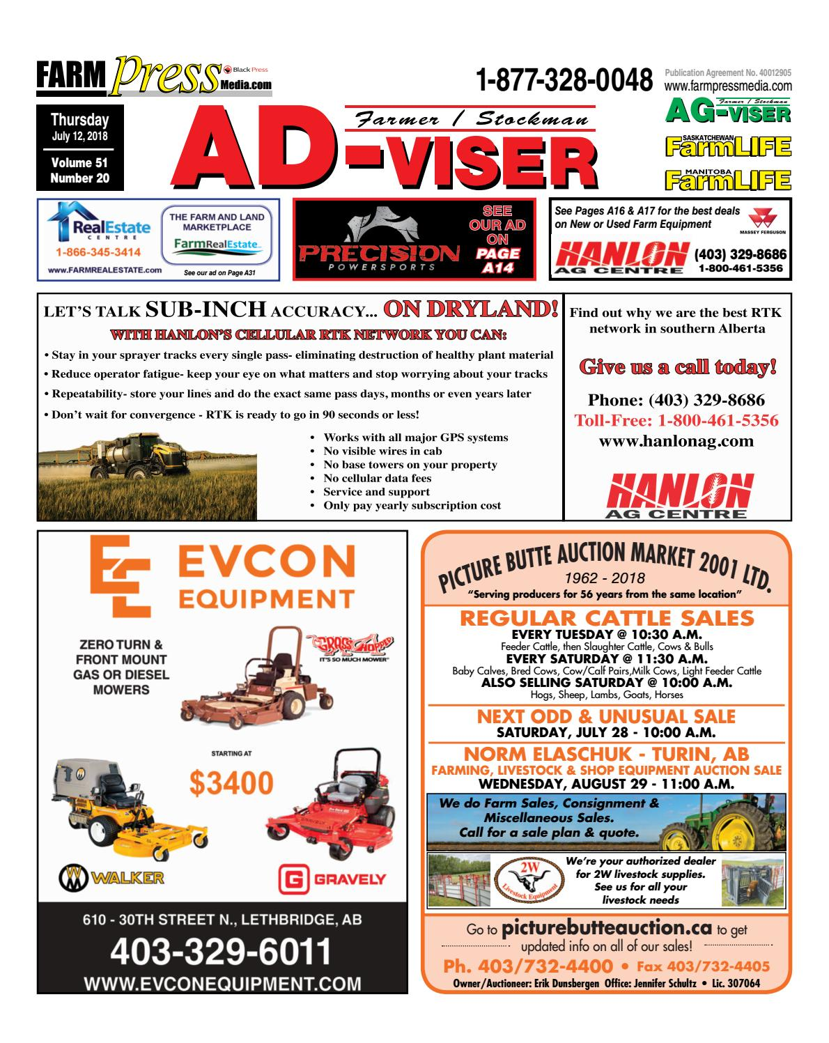 Southern Alberta Advisor, July 12, 2018 by Black Press Media Group