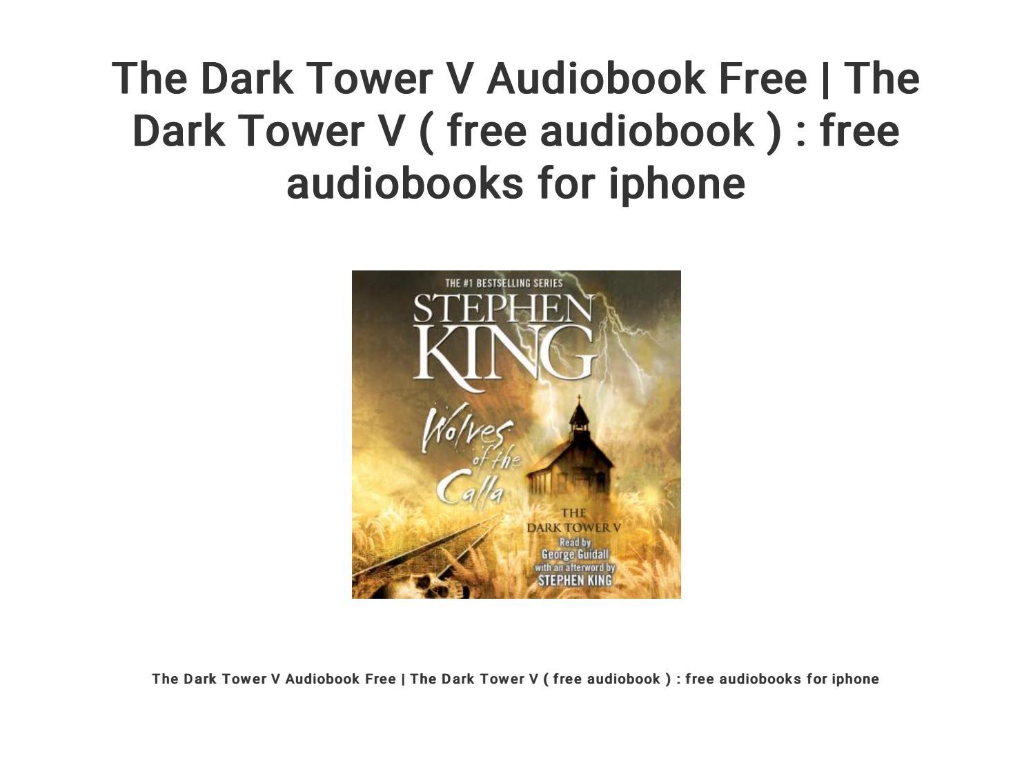 The Dark Tower V Audiobook Free   The Dark Tower V ( free