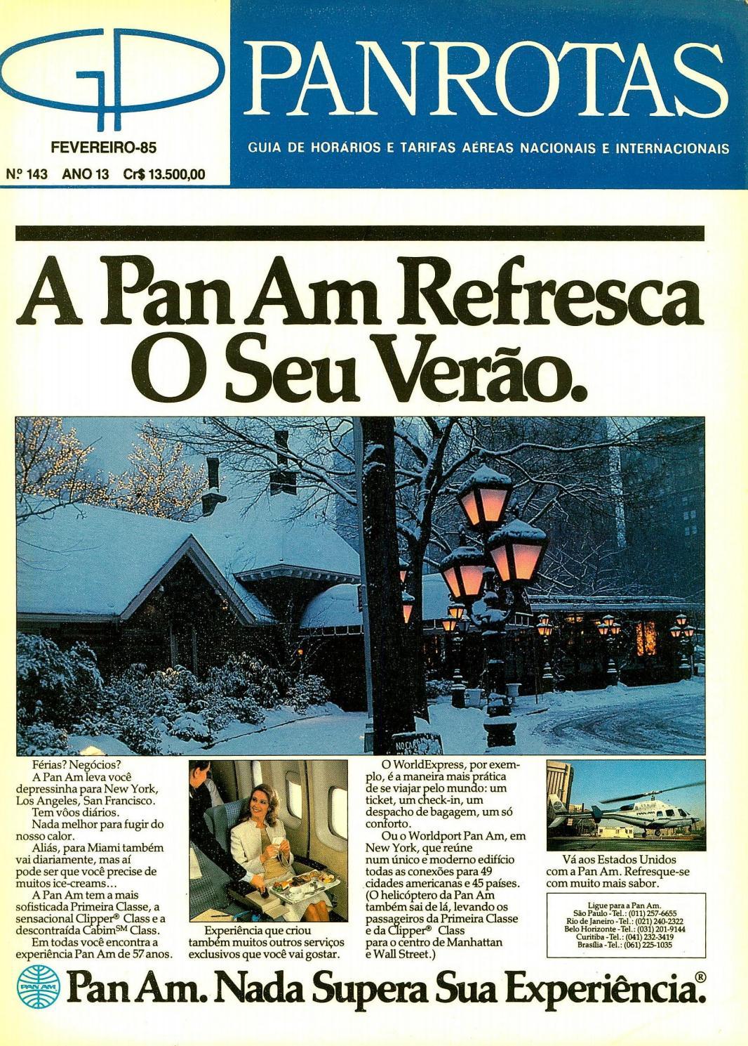 731d6cecf9c Guia PANROTAS - Edição 143 - Fevereiro 1985 by PANROTAS Editora - issuu
