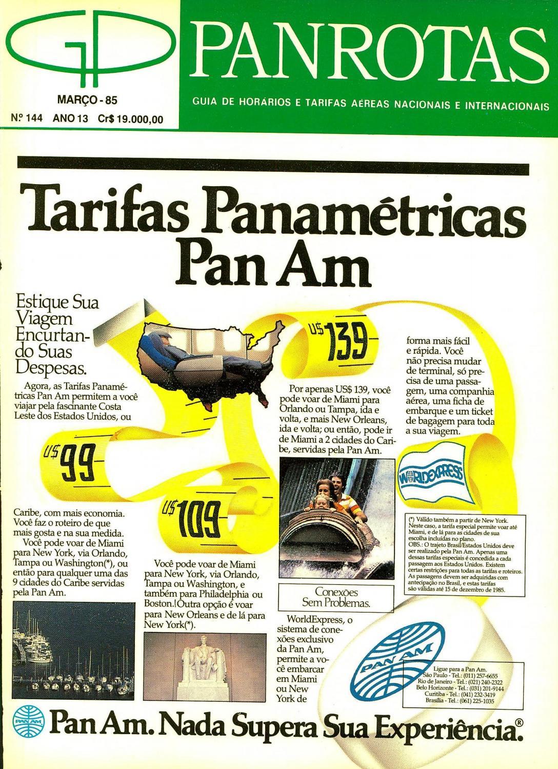8ed516eb85e Guia PANROTAS - Edição 144 - Março 1985 by PANROTAS Editora - issuu
