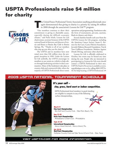 Page 20 of USPTA Professionals raise $4 million for charity